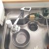 キッチンのシンク。排水口を清潔に使うため、蓋を外すことにしました