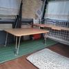 軽バンの改造計画(自宅のテーブル)