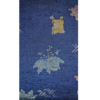 着物生地(183)花に梅笹模様手織り真綿紬