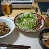 唐揚げ、生野菜