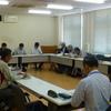 4日午前、会津の阿賀川河川事務所で只見川ダム管理についてのJパワーの説明を受け懇談。
