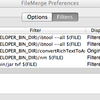 Mac FileMerge Add Filters (Files are not ascii)