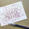 【Zentangle】ぐるぐるで薔薇を描いてみる