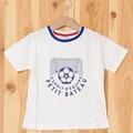 プリント半袖Tシャツ_G_WH サッカーボール | PETIT BATEAU(プチバトー)