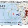 2017年08月29日 14時26分 五島列島近海でM3.7の地震