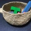 【手編み】リネンの糸で、おままごとのお鍋を作った