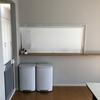 キッチンの垂れ壁にロールスクリーンを設置した