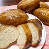 全粒粉入りコッペパン・発酵力の弱いりんご天然酵母の救済策