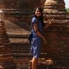 【ミャンマー】バガン遺跡観光。色気に負ける。タナカで可愛くなる