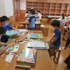 4年生:図工 コリントゲーム完成 タブレットで撮影