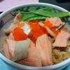 今日の晩飯 鮭はらこ飯を作ってみた