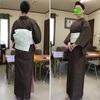 大島紬に小袋帯の着物コーデ