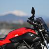 【写真】MT-07と御嶽山と南アルプスと恵那山