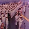 ミッドウェー沖での洋上慰霊祭