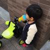 水を飲んで本領発揮した三輪車の練習