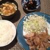 夜ごはん☆豚の生姜焼き 何とか提出したFP課題・・・