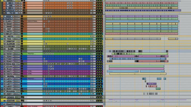 ヤング・サグ【後編】プラグイン+実機でアナログの質感を強調〜アンガド・ベインズ氏のサウンド・メイクに迫る