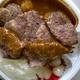 元町カレーパルフェに肉焼いてトッピングしたら ハイパー過ぎました。