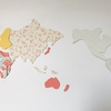 【DIY】 端切れで作る世界地図