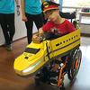 車椅子を「ワクワク新幹線」に変える M5Stack×スピーカ×イルミモジュール製作