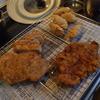 幸運な病のレシピ( 1125 )夜 :カツ、揚げ餃子、ちくわの磯辺揚げ、里芋のキンピラ
