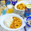 夏にさわやかイカカレー♪#藍のある食卓