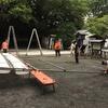 八坂神社例祭の献灯作業が行われました