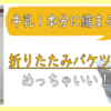 【購入品紹介】畳めるバケツのメリット・デメリット【数年使った主婦のレビュー】