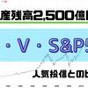 【SBI・Vシリーズ】SBI・V・S&P500インデックスファンド純資産残高2,500億円突破!他の人気投信との比較もあり!