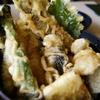 鮎天丼とソフトクリーム