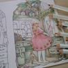 色辞典色鉛筆で『鏡の前でおめかし中』ページの続きですv森の少女の物語より