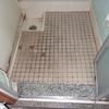 浴室 洗い場 タイルからリフォームシートにリフォーム