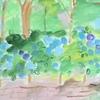 紫陽花の絵。