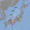 台風20号、徳島県南部に上陸