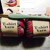 Tシャツヤーンでブレスレット作り。
