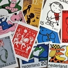 オランダの切手をイメージしたポストカード