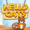 「Hello Cats!」図形を書き込んで猫を動かすパズルがハマる