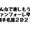 甲府選手名鑑2021 ファイルデータ
