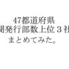 新聞の発行部数とシェア率上位3社を47都道府県ごとにまとめてみた。