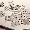 【Zentangle】Fragments February の16日目から18日目まで