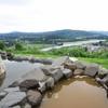 茶色の源泉と露天風呂からの雄大な景色が迫力満点!えちご川口温泉