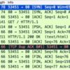 HTTP GETしたときのTCPパケットの様子を理解する