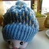 今年の編み物はじめ(すべり目を使ったニット帽)