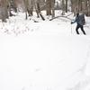冬至に入る奥物部遊山 降雪