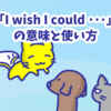 1分で覚える「I wish I could 〜」の意味と使い方