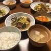 <メインが味噌味の時に汁物に悩む>豚肉とキャベツの味噌炒め、にんじんとちくわの煮物、お吸い物