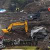 山崩れの発生中の大分県中津市耶馬渓町で21時間振りに捜索が再開!依然二次災害の危険性はあり!!