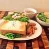 旬の食材はやっぱりおいしい!トーキョーケンキョで週替りサンドイッチプレートランチ。旬のエリンギ舞茸のバター醤油&季節のネクタル大人のオレンジをいただきました!