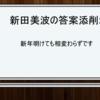 新田美波の答案添削2  新年明けても相変わらずです