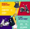 衝撃のベスパジャパンホームページ。1950年代アメリカンファッションマガジン調。この路線どうなの!? バイク設計における愛について。